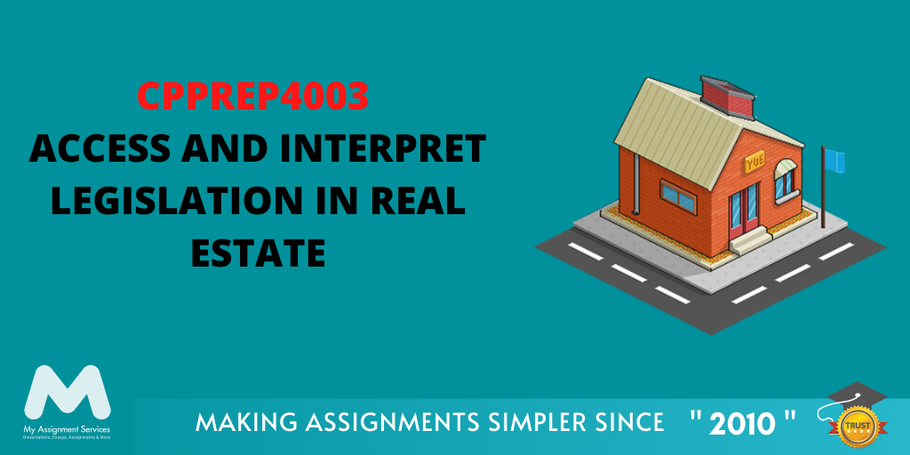 CPPREP4003 Access and Interpret Legislation