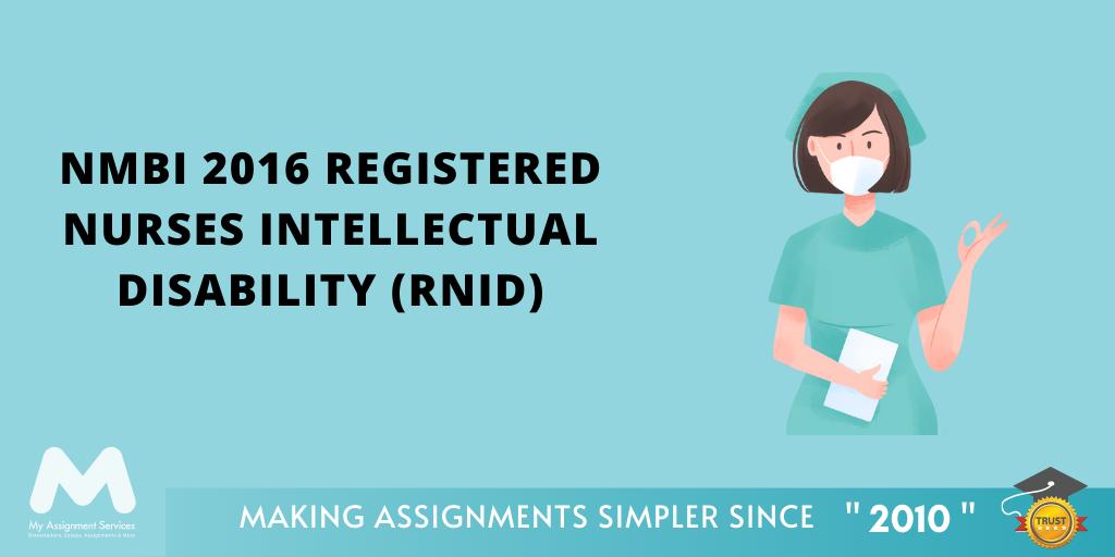NMBI 2016 Registered Nurses Intellectual Disability